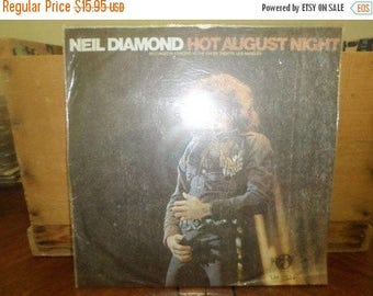Save 30% Today Vintage 1972 LP Vinyl Record Neil Diamond Hot August Night Rare Unofficial Liming Taiwan Import Excellent 4664