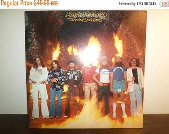 Save 30% Today Vintage 1977 LP Record Lynyrd Skynyrd Street Survivors Excellent Condition Original Flames Cover 10985