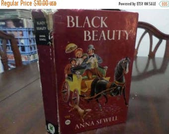 Save 25% Now Vintage Clover Classics Hardcover Book Black Beauty Anna Sewell Very Good Condition