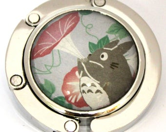 Totoro purse hook, Folding purse hook, Portable handbag hanger, Handbag hook, Purse Hanger with Japanese washi paper