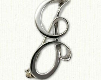 "Custom Initial Monogram J Pin - 1 1/2"" size - All Metals Available"