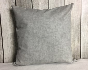 Grey Pillow. Throw Pillow. Solid Grey Pillow. Pillow Cover