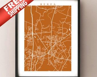 Berea, Kentucky Map Print
