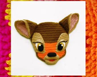 Crochet Pattern. Applique. Cute Little Fawn. DIY