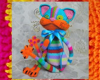 Crochet Pattern. Tabby positive cat