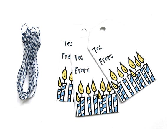 Candle Birthday Tags