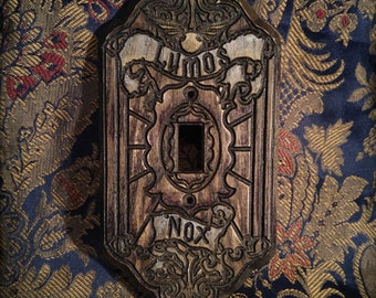 Lumos Nox - Wooden Light Switch Plate