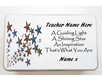 Personalised Teacher Tin