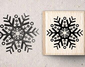 Stamp with snowflake Sinikka X 5,0 x 5,0 cm