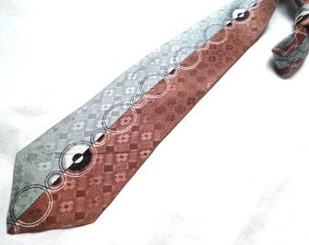 """COLOR SPLIT MOTIF.....40s vintage tie....brand: """"famous advance""""...."""