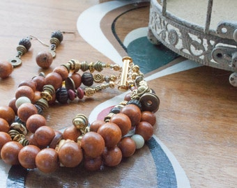 Woodn't You Love This Set? Bracelet and Earring Set