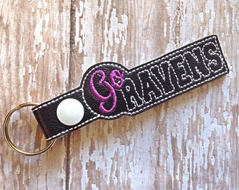 Ravens - Team Name - Key Fob In The Hoop - DIGITAL Embroidery DESIGN