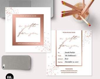 Photography Gift Certificate Template for Photographer - INSTANT DOWNLOAD - GC015