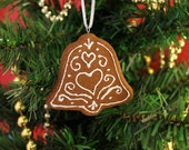 Bell Cookie Cinnamon Scented Ornament | Handcrafted | Not Real Cookie DO NOT EAT