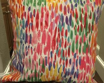 Home Decor Kelly Ripa Fabric, Make it Rain Fiesta, Pink and Orange 12x16, 16x16, or 18x18
