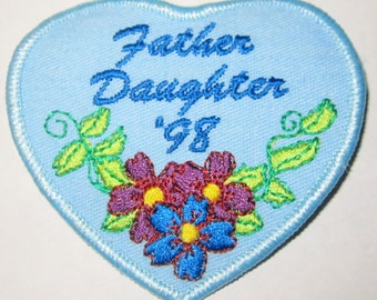 """Vintage Girl Scout Fun Patch """"Father/Daughter '98"""""""
