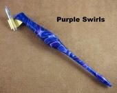 """Custom Handmade Oblique Pen, Authentic Unique Oblique, """"Purple Swirls"""""""