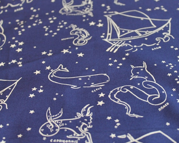 Constellation crib sheet astronomy nursery outer space baby for Space baby fabric