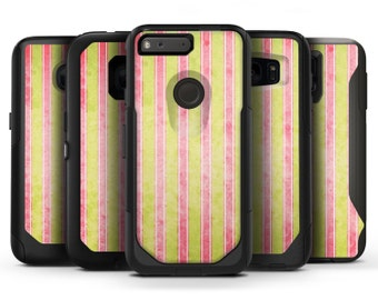 Antique Red and Yellow Vertical Stripes - OtterBox Case Skin-Kit for the iPhone, Galaxy & More