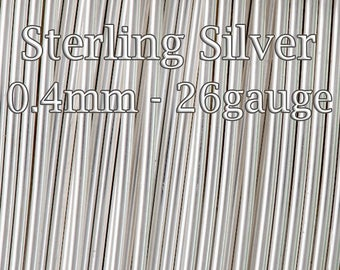 Sterling Silver Wire, Half Hard round 26 gauge 0.4mm bulk, solid silver wire, 10 50 100 300 Feet, wholesale jewellery wire 30%discount