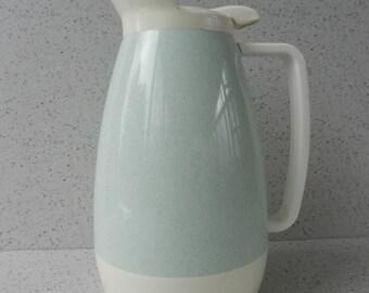 Light Aqua and Ivory Thermo-Serv Insulated Pitcher, 1 Quart, Carafe
