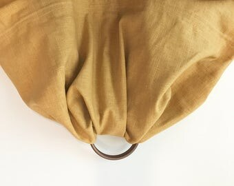 Eowyn | Ring Sling in Wheat Linen Blend with Bronze Rings (*Petite)