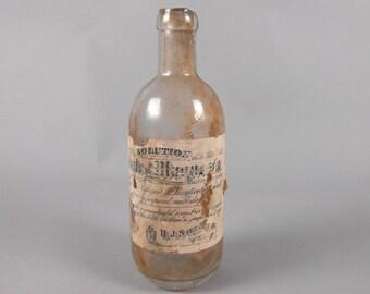 Citrate of Magnesia Bottle with Original Label HJ Steinlein Pharmacy Newark NJ Laxative Bottle