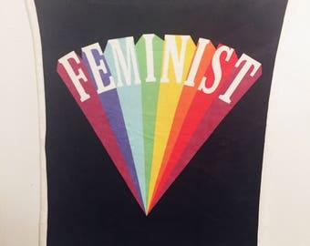 "30""x40"" faux mink feminist blanket"