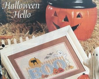 Halloween Hello Cross Stitch Pattern