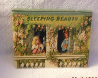 Vintage Sleeping Beauty Pop Up Book Printed in Czechoslovakia