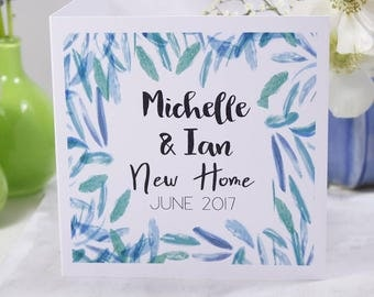 New Home Card - Personalised New Home Card - New Flat card - Moved in Card - New House Card - Just Moved Card - Housewarming Card
