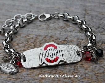 Ohio State Bracelet, Buckeyes Bracelet, Buckeyes Bracelet, Buckeyes Fan