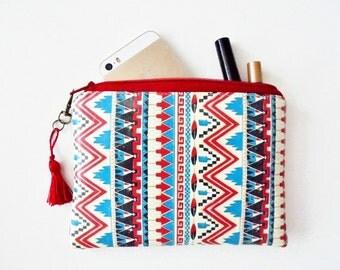 Waterproof tribal, native american, aztec, navajo coin purse, wallet