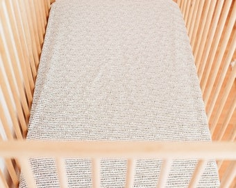 Dash Fitted Crib Sheet