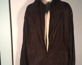 Remy Outerwear Vintage Leather Bomber Jacket 43