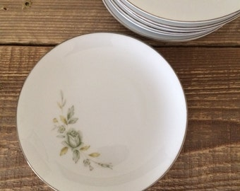 Vintage Set of 11 Wyndham Japan Melrose Bread & Butter Appetizer Tapas Plates