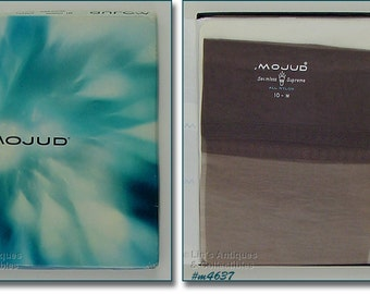3 Pairs Vintage MOJUD Vintage Seamless Supreme Stockings Nylons Mint in Box Size 10 (Inventory #M4637)