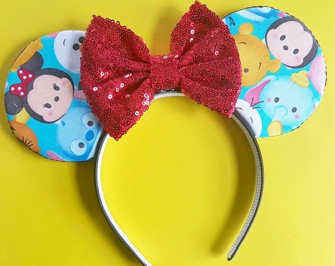 Tsum Tsum    Tsum Tsum Mouse Ears    Minnie Ears    Mouse Ears    Mouse Ears Headband    Minnie Mouse Ears    Sparkle Mouse Ears    RTS