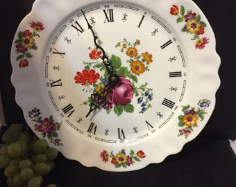 H067  Limoges plate wall clock NOT TESTED