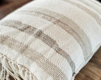 Handwoven Throw Pillow//Decorative Throw Pillow//Neutral Throw Pillow//Gifts for her