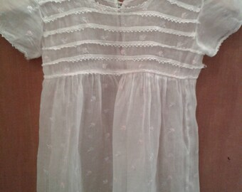 Old child dress, made by hand