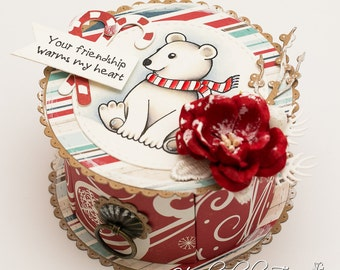 OOAK Christmas gift box