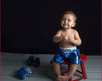 Baby Muay Thai/ Baby Boxing set Gloves and shorts personalized