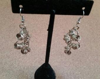 Beautiful Multi-Tiered Silver Earrings