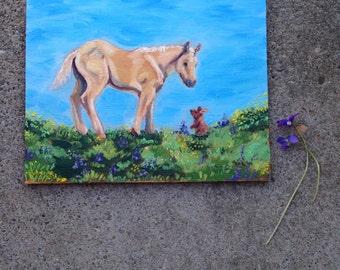 Making Friends Original Oil Painting