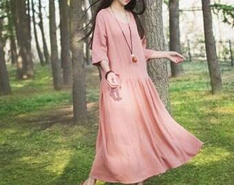 "24 Color pure color linen cotton fabric linen fabric cotton fabric wrinkle fabric summer fabric -(FSXIY)- by half meter/ 57""wide"