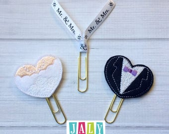 Bridal Planner Clip Book Mark Collection-You choose your combination of clips