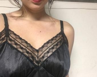 vintage lingerie slip *black*