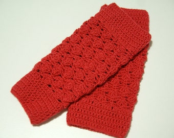 Girls Leg Warmers, Crochet Leg Warmers for Girl, Baby Girl Leg Warmers Crochet, Red Leg Warmers, Infant leg warmers, Toddler leg warmers