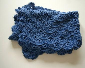 Crochet Baby blanket, Blue Baby Blanket Crochet, Baby Boy Blanket Crochet, Baby Shower Gift, Newborn Baby Blanket, Newborn Boy Blanket
